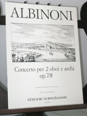 Albinoni T - Concerto in D for 2 Oboes Op 7/8 arr Kolneder W